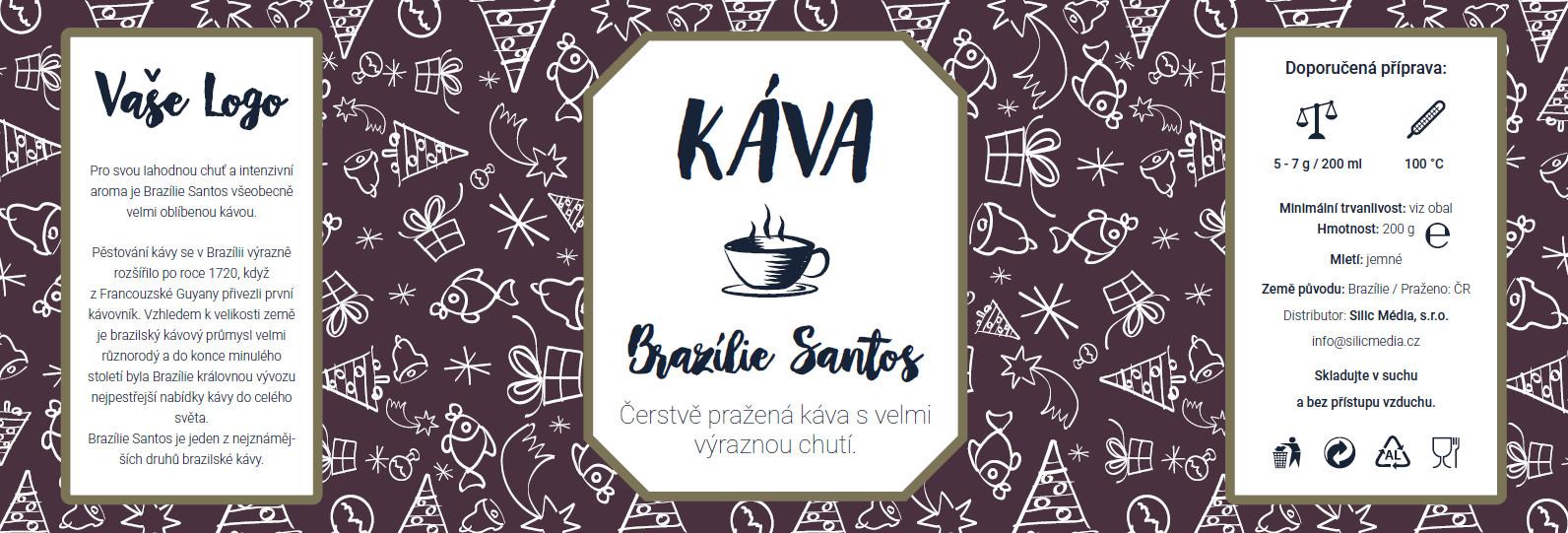 Reklamní káva Brazílie Santos