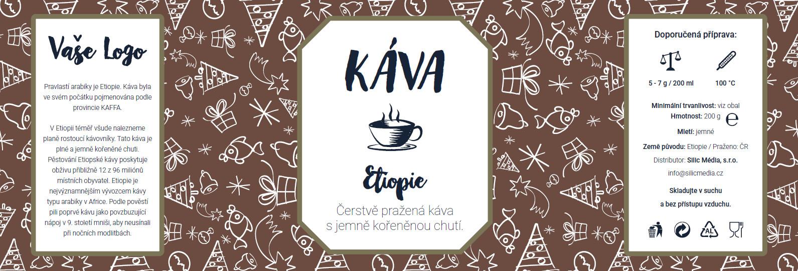 Reklamní káva Etiopie