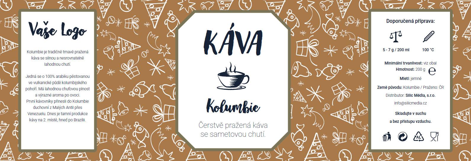 Reklamní káva Kolumbie