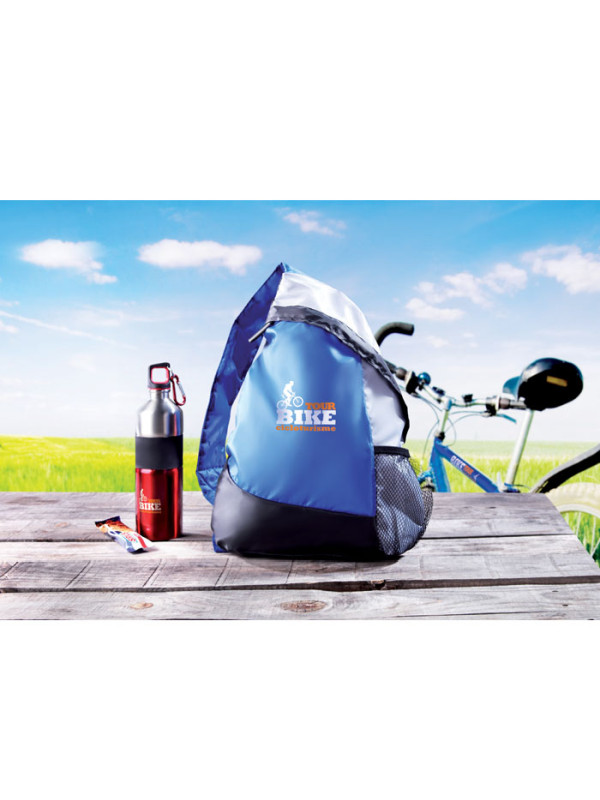 Reklamní batoh na jedno rameno GARY modrý