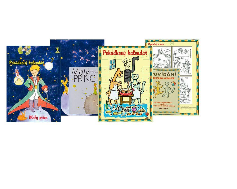 Reklamní adventní kalendář s knihou