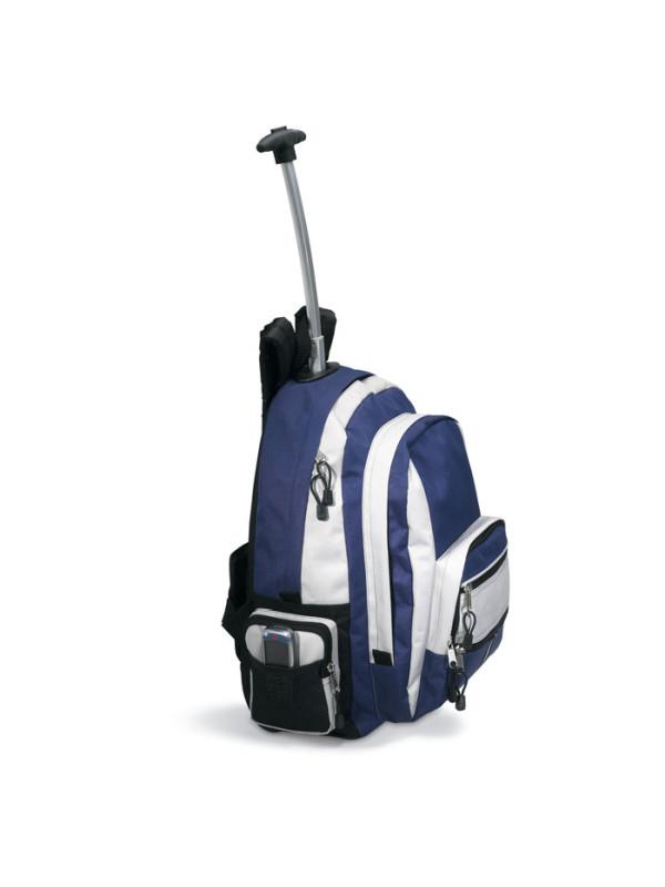 Reklamní batoh na kolečkách CECINA modro bílý 2