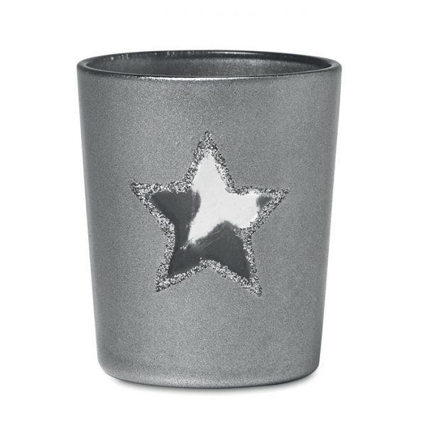 Vánoční reklamní svícen SHINY STAR stříbrný