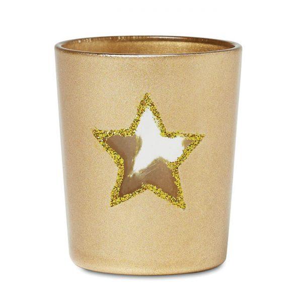 Vánoční reklamní svícen SHINY STAR zlatý