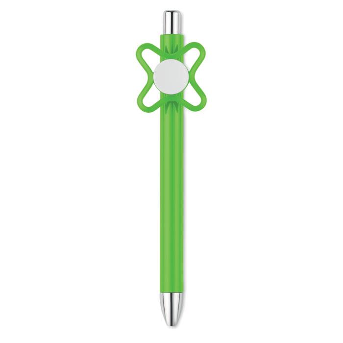 Reklamní pero se spinnerem zelené