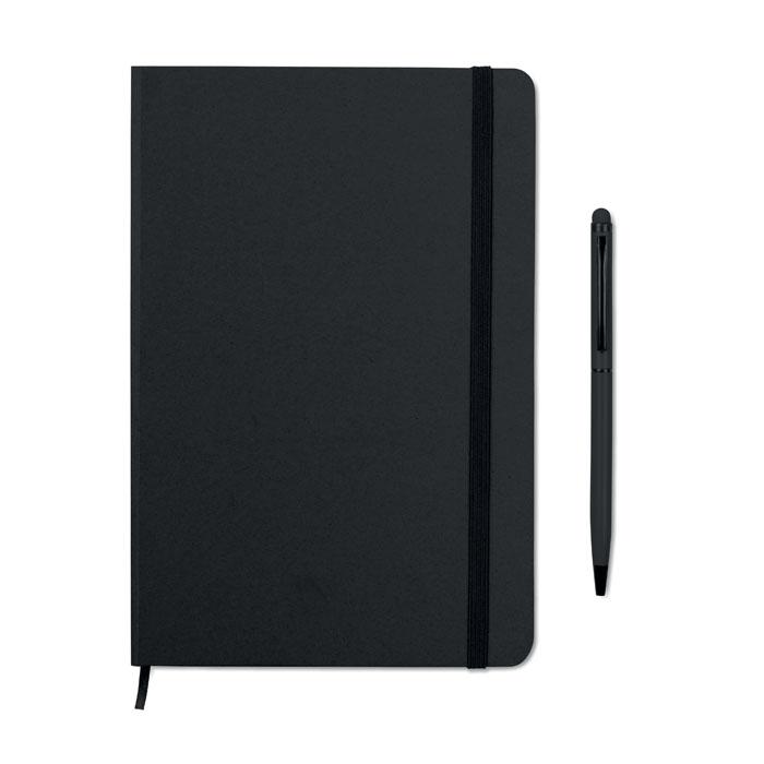 Reklamní zápisník s propiskou černý NEILO SET