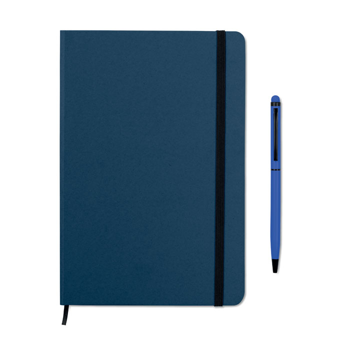 Reklamní zápisník s propiskou tmavě modrý NEILO SET