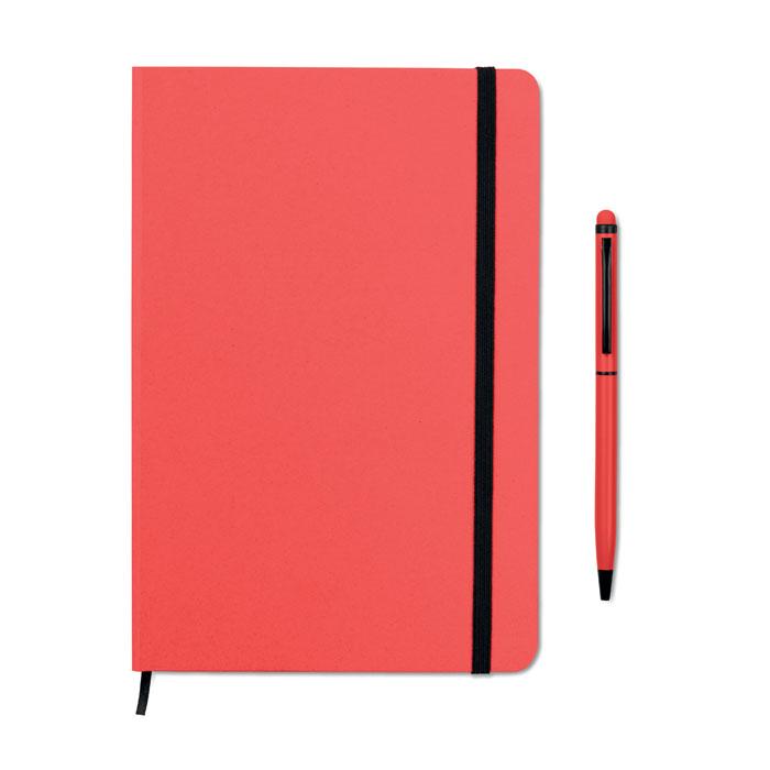 Reklamní zápisník s propiskou červený NEILO SET