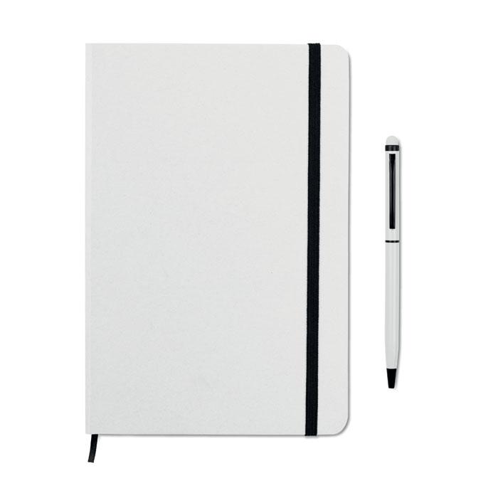 Reklamní zápisník s propiskou bílý NEILO SET