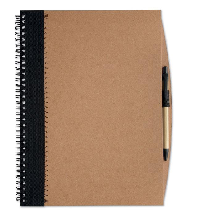 Firemní zápisník PAPIROS černý s potiskem