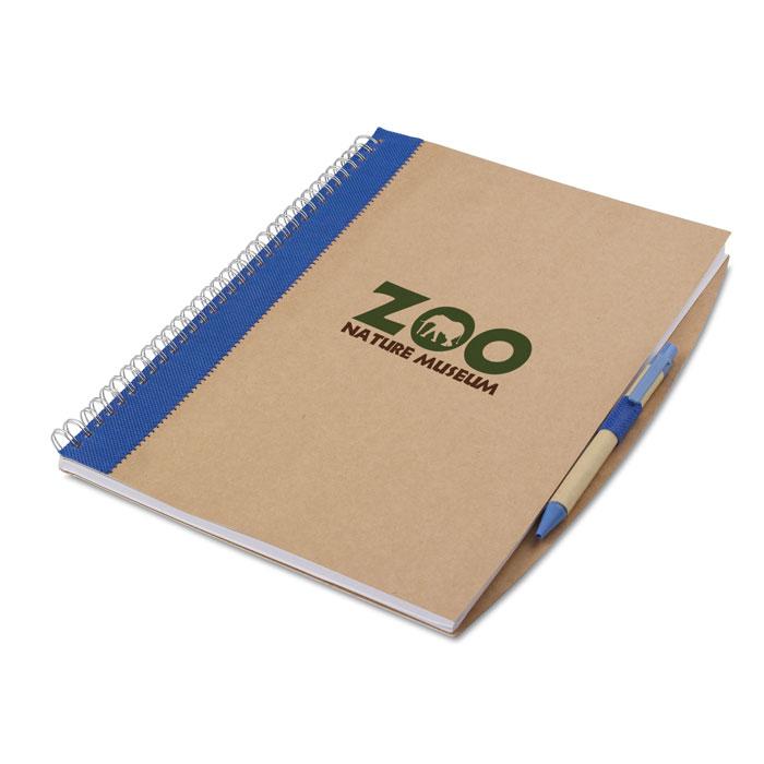 Firemní zápisník PAPIROS modrý s potiskem
