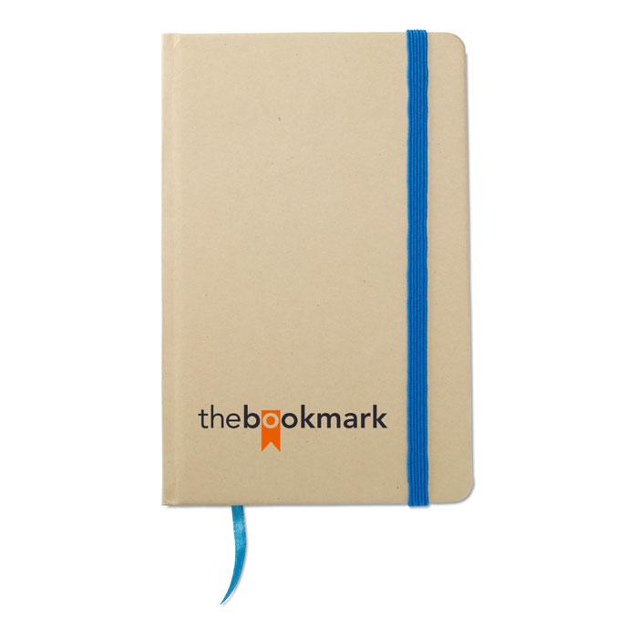 Reklamní zápisník s potiskem EVERNOTE modrá gumička