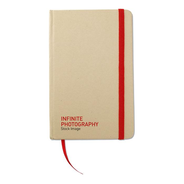 Reklamní zápisník s potiskem EVERNOTE červená gumička