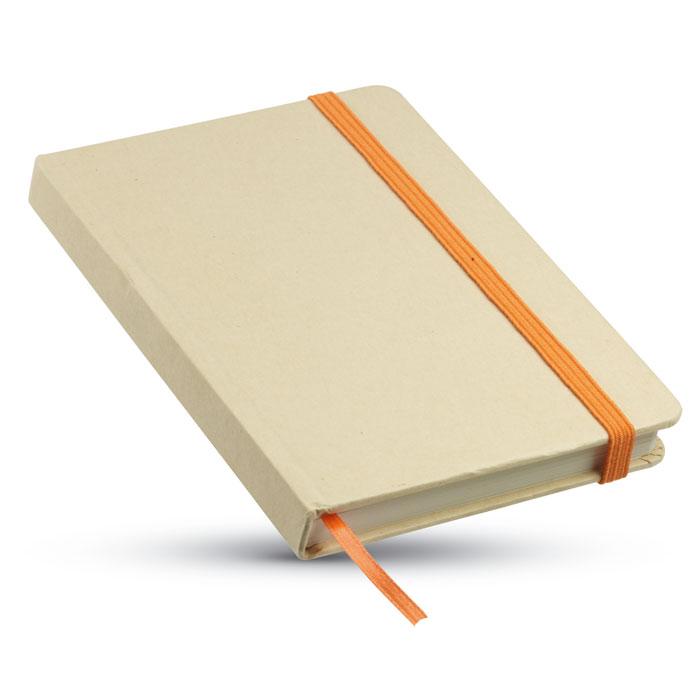 Reklamní zápisník EVERNOTE oranžová gumička