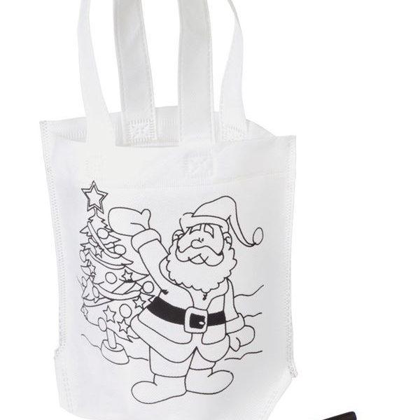 vybarvovací reklamní taška santaclaus