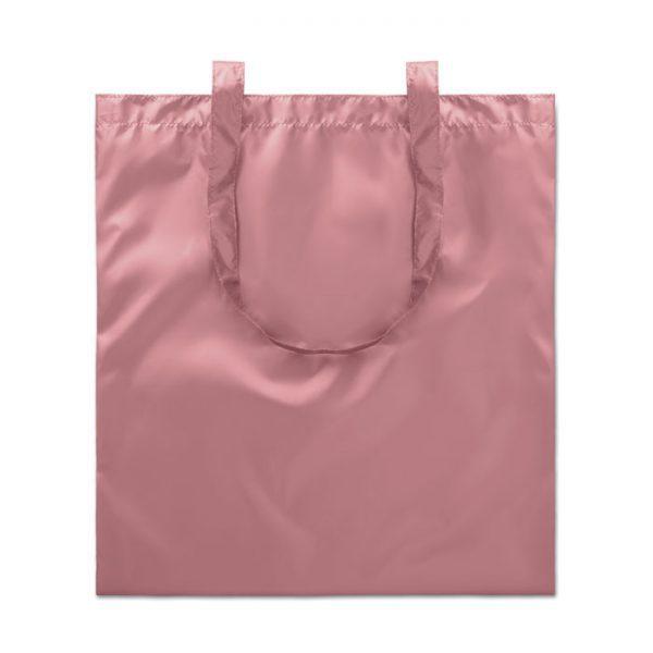 Reklamní nákupní taška lesklá - růžová