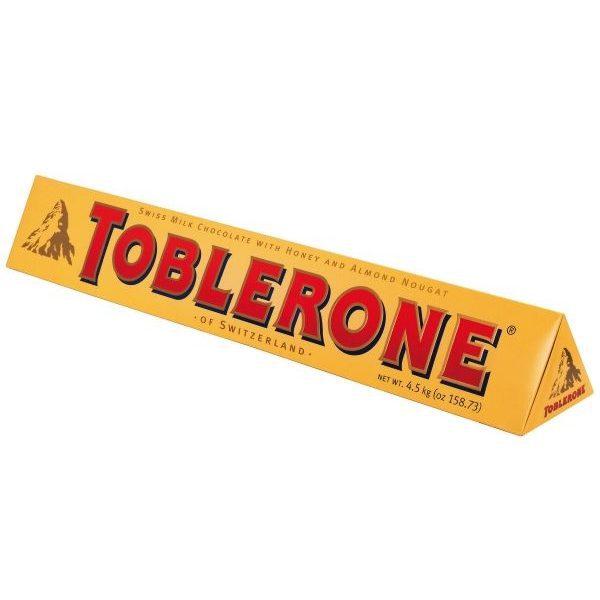 Toblerone Jumbo s reklamním potiskem