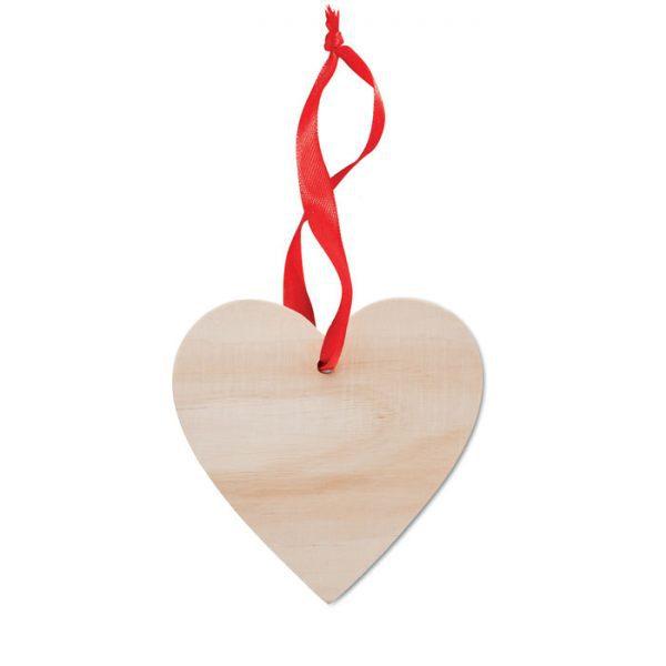 Vánoční ozdoba ve tvaru WOOHEART