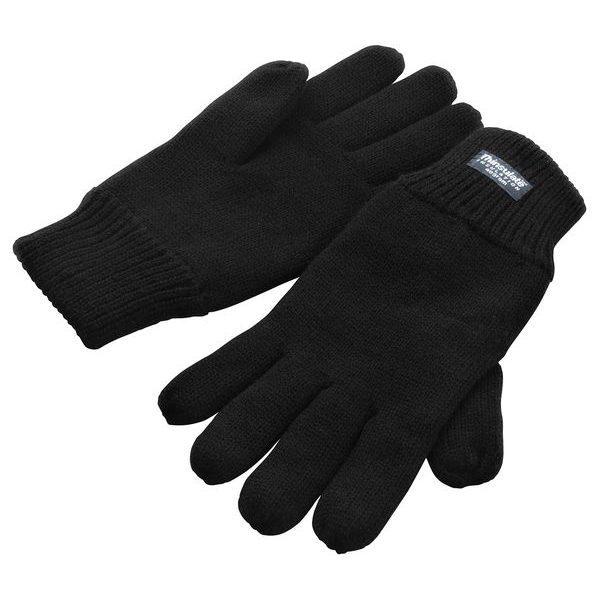 zimní reklamní rukavice černé