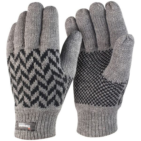 Reklamní rukavice Thinsulate šedo-černé