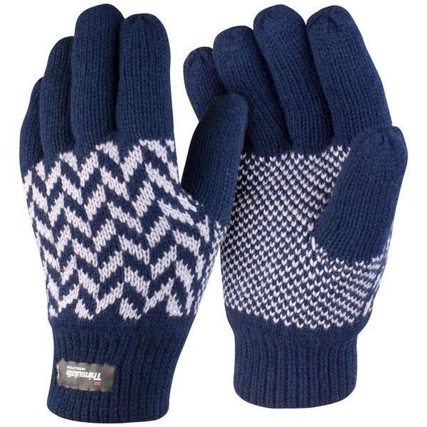 Reklamní rukavice Thinsulate modro-bílé