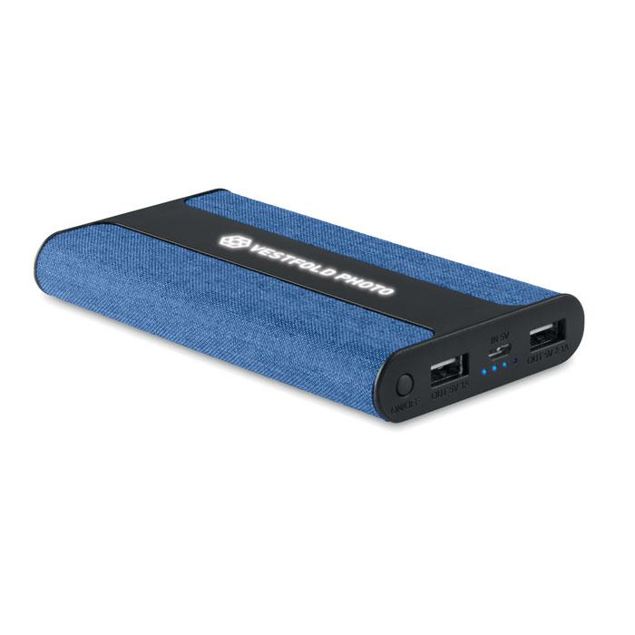 Reklamní powerbanka Powerfabric modrá