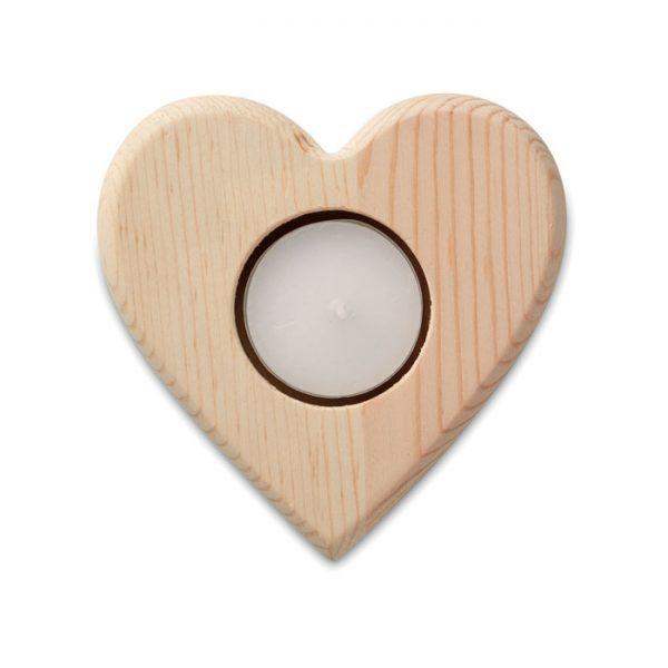 vánoční reklamní stojánek na svíčku TEAHEART srdce