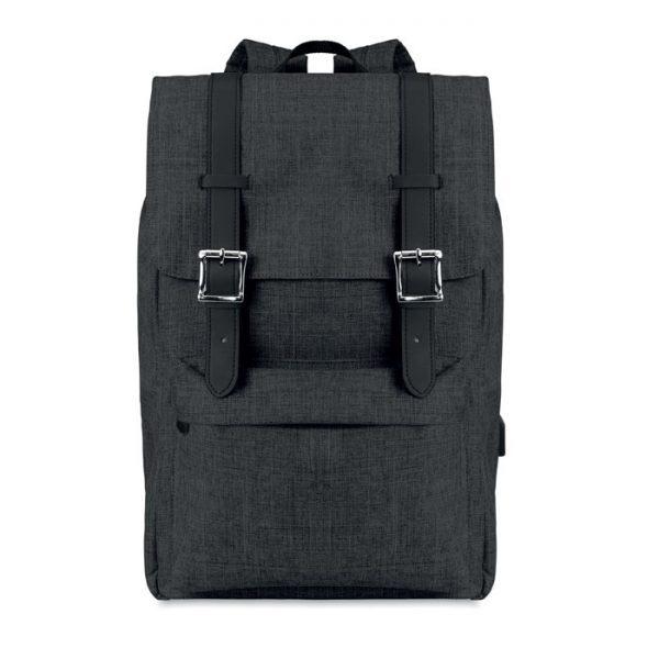 Reklamní batoh na notebook RIGA tmavě šedý