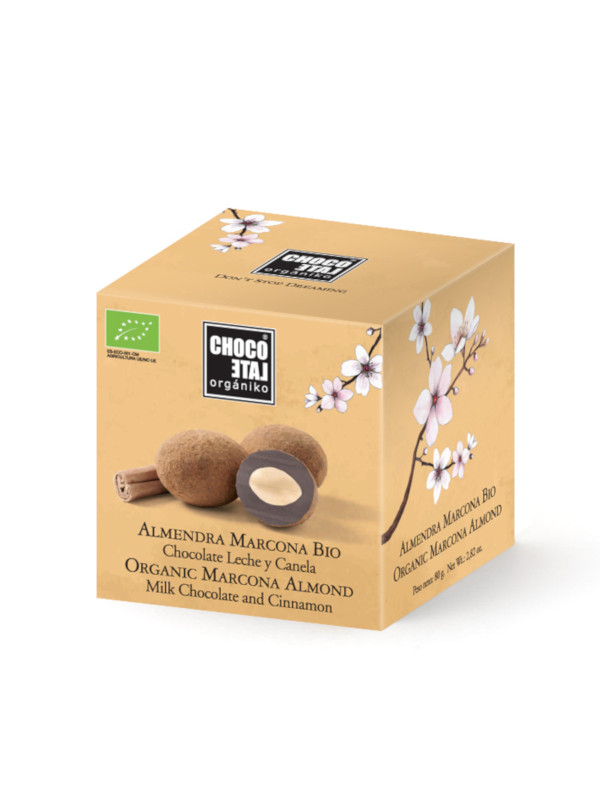 Mandle v čokoláde se skořicí