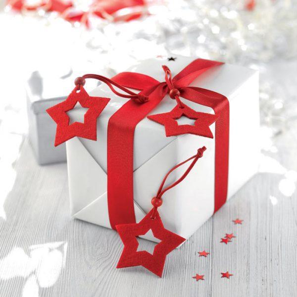 Vánoční reklamní ozdoby hvězdy STARFY