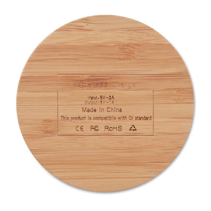Bambusová bezdrátová nabíječka RUNDO