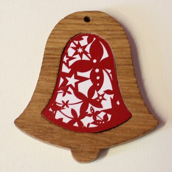Reklamní dřevěná ozdoba zvon