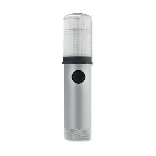 Reklamní bezpečnostní baterka GUIA stříbrná