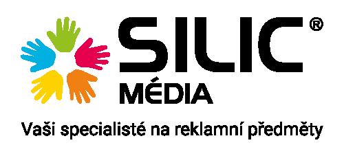 Silic Média logo s claimem PNG barevné