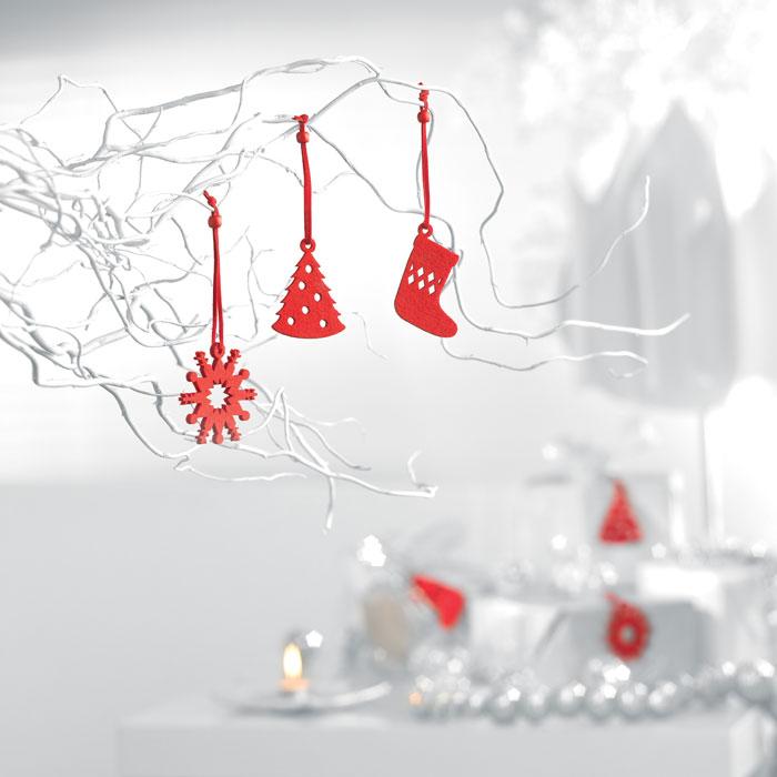 reklamní vánoční dekorace ozdoby červené 1