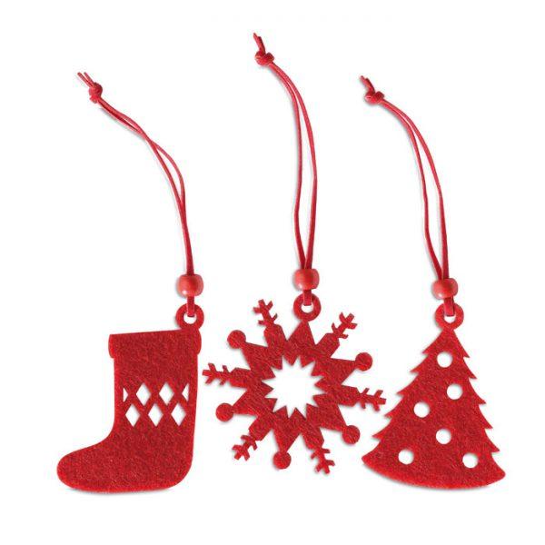 vánoční ozdoby s potiskem loga