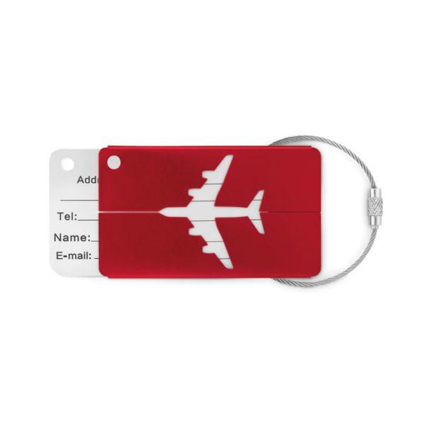 Reklamní visačka FLY TAG červená