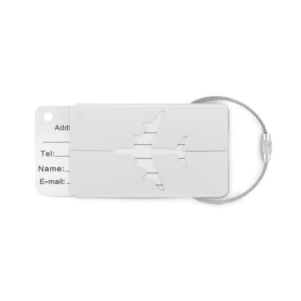 Reklamní visačka FLY TAG bílá