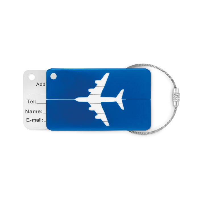 Reklamní visačka FLY TAG modrá