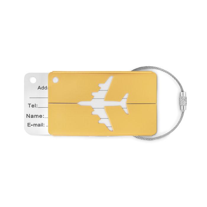 Reklamní visačka FLY TAG žlutá
