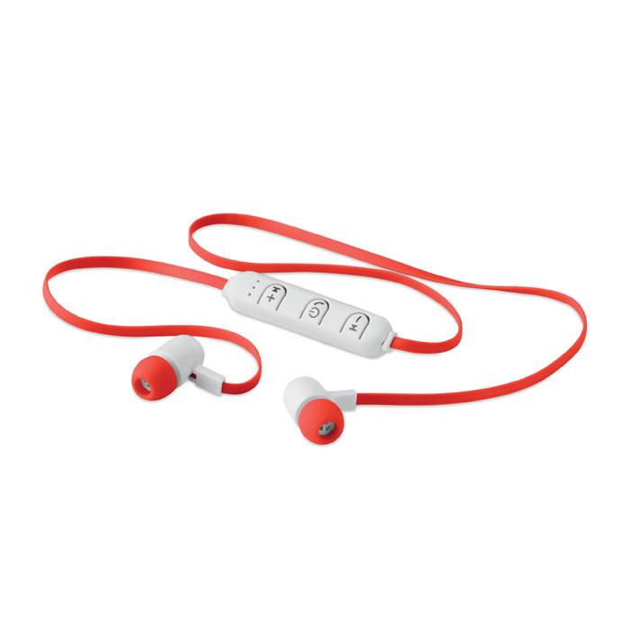Reklamní bluetooth sluchátka JAZZ červená