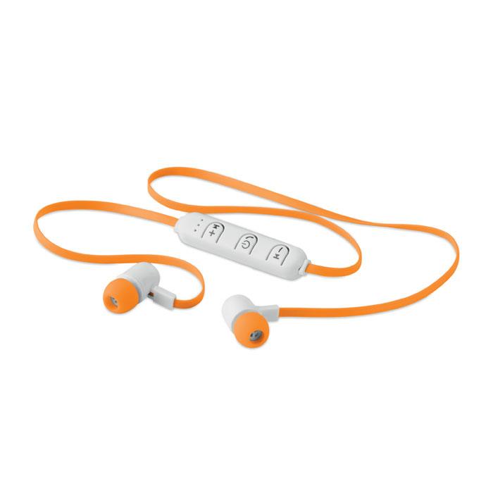 Reklamní bluetooth sluchátka JAZZ oranžová