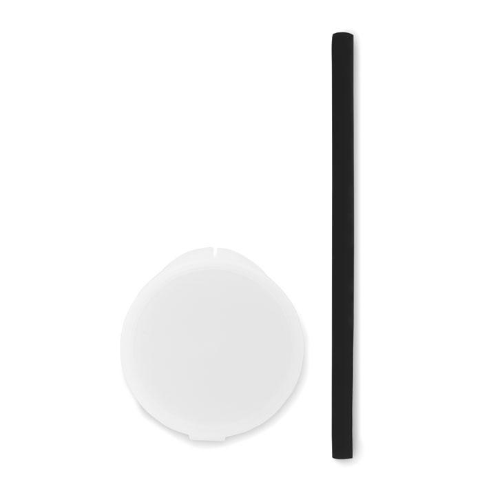 Reklamní silikonové brčko FLEXI STRAW černé