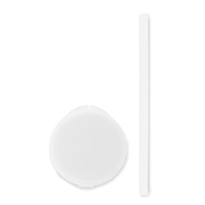 Reklamní silikonové brčko FLEXI STRAW bílé