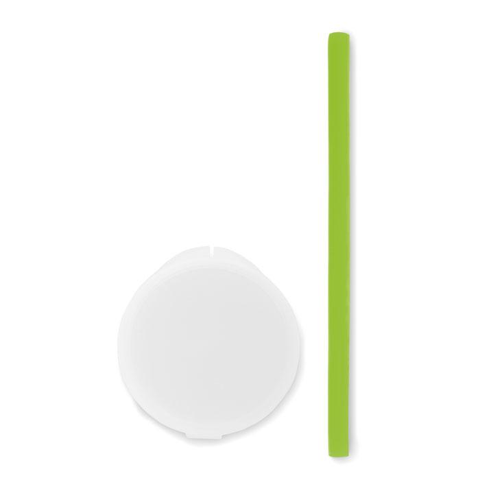 Reklamní silikonové brčko FLEXI STRAW zelené