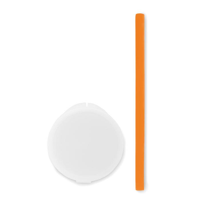 Reklamní silikonové brčko FLEXI STRAW oranžové