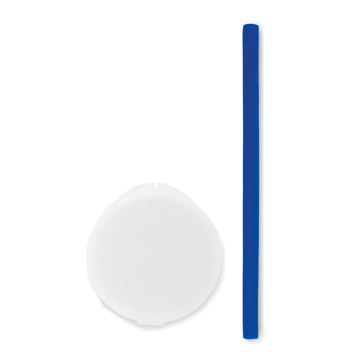 Reklamní silikonové brčko FLEXI STRAW modré