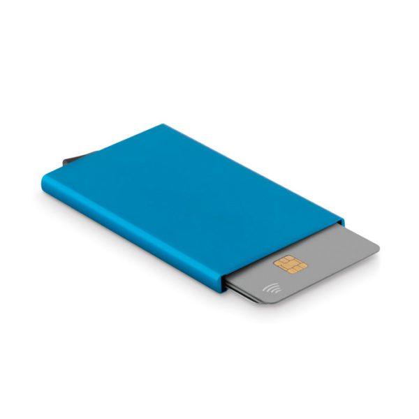 Reklamní pouzdro na karty SECUREPUSH modré