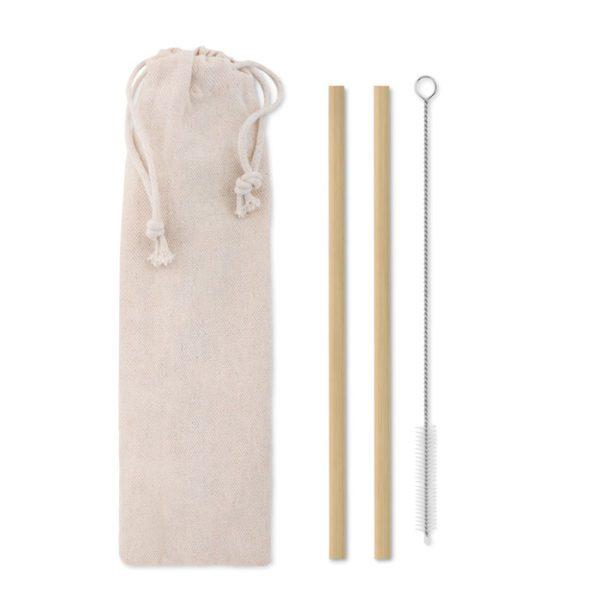 Reklamní bambusová brčka