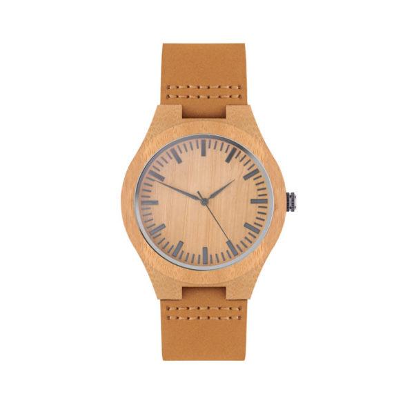 Reklamní hodinky SION světlé dřevo